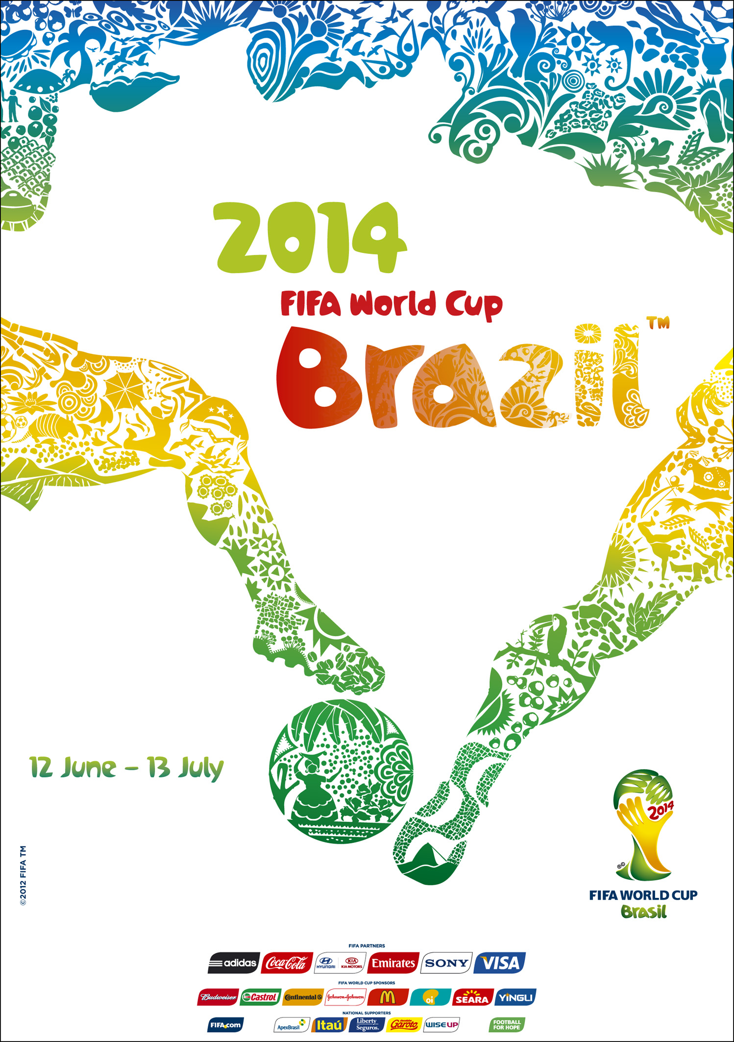 brazil unveils 2014 fifa world cup poster brazil the guide