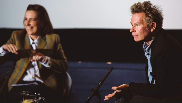 Julien Temple with the BBC's Kirsty Walk